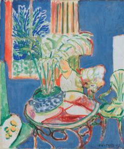 Petit Interieur en Bleu, c.1947 by Henri Matisse