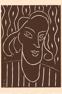 "Portrait of a Woman -  Alexina ""Teeny"" Duchamp by Henri Matisse"