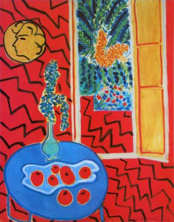 Red Interieur, Still Life on a Blue Table, c.1947 by Henri Matisse