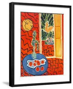 Red Interior, Still Life on Blue Table, c.1947 by Henri Matisse