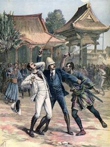 Failed Assassination of Tsarevich Nicholas of Russia, Otsu, Japan, 1891 by Henri Meyer