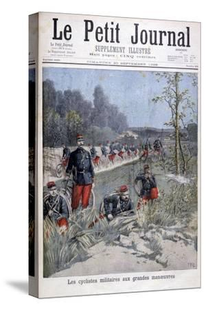 French Bicycle Corp on Military Maneuvers, 1896