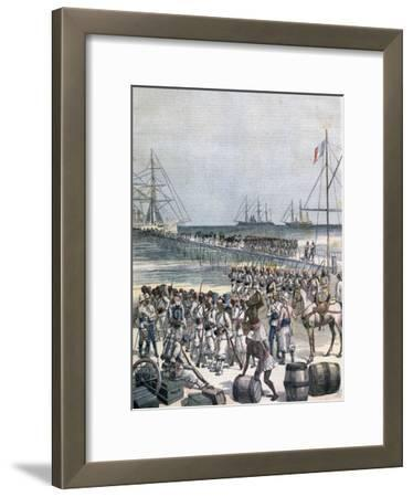 Landing of the Senegalese Troops at the New Wharf in Cotonou, Benin, 1892