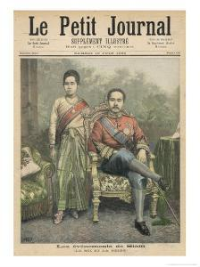 Rama V Known as Chulalongkorn King of Siam and His Wife by Henri Meyer
