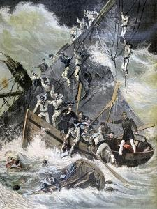 Shipwreck of the La Bourdonnais, Sainte Marie, Madagascar, 1893 by Henri Meyer
