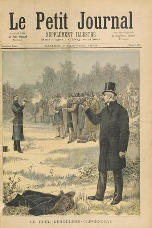 The Duel Between Paul Deroulede (1846-1914) and Georges Clemenceau (1841-1929) Illustration from 'L