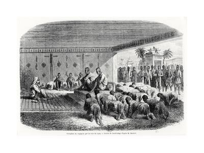 Reception of a Traveller by the King of Laos, 1861