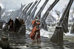 Cardinal Richelieu at the Siege of La Rochelle, 1628 by Henri Paul Motte