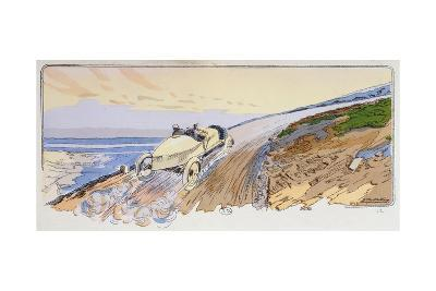 Henri Rougier in His Lorraine-Dietrich Competing in the Mount Ventoux Rally in 1904, c.1910-Ernest Montaut-Giclee Print
