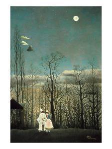 Carnival Evening by Henri Rousseau