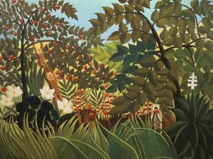 Exotische Landschaft Mit Spielenden Affen, 1910 by Henri Rousseau