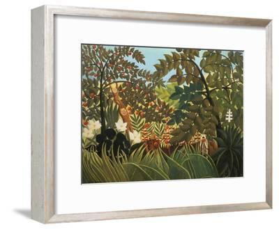 Exotische Landschaft Mit Spielenden Affen, 1910