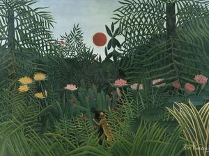 Foret Vierge au Soleil Couchant by Henri Rousseau