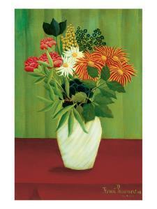 Green Flowers by Henri Rousseau