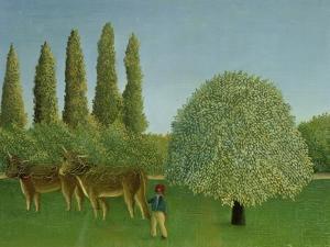 In the Fields, 1910 by Henri Rousseau