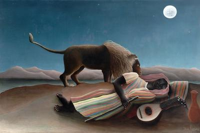 La Bohémienne Endormie (The Sleeping Gypsy) by Henri Rousseau