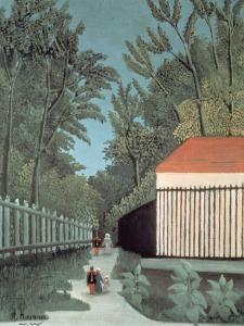 Landscape in Montsouris Park with Five Figures, 1910 by Henri Rousseau