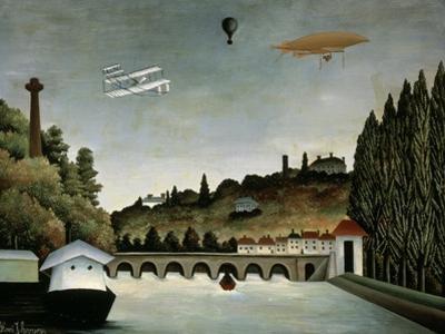Landscape with Zeppelin, c.1908 by Henri Rousseau
