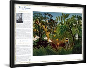Masterworks of Art - Exotic Landscape by Henri Rousseau