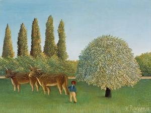 Meadowland (The Pasture) by Henri Rousseau