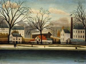 Suburbs; Banlieue by Henri Rousseau