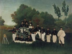 The Artillerymen, about 1895 by Henri Rousseau