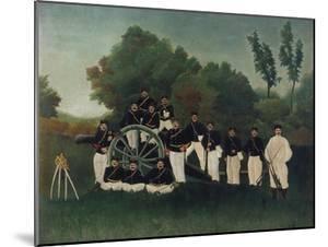 The Artillerymen, about 1895 by Henri Rousseau