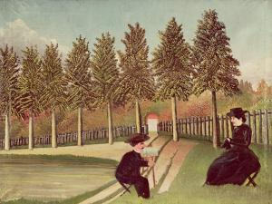 The Artist Painting His Wife, 1900-05 by Henri Rousseau