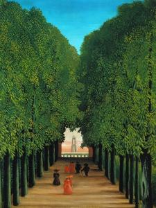 The Avenue in the Park at Saint Cloud, 1907/08 by Henri Rousseau