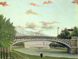 The Bridge at Charenton, France by Henri Rousseau