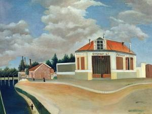 The Chair Factory at Alfortville, C.1897 by Henri Rousseau