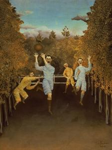The Football Players,1908 by Henri Rousseau