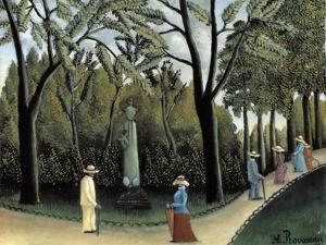 The Luxembourg Gardens, Monument to Chopin, 1909 by Henri Rousseau