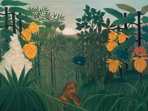 The Repast of the Lion, about 1907 by Henri Rousseau