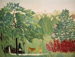 The Waterfall, 1910 by Henri Rousseau