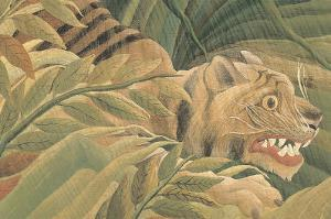 Tiger in a Tropical Storm (Surprised!), 1891 (detail) by Henri Rousseau