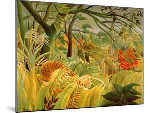 Tiger in a Tropical Storm (Surprised!) 1891 by Henri Rousseau
