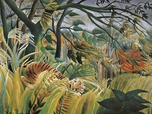 Tiger in a Tropical Storm (Surprised!) by Henri Rousseau