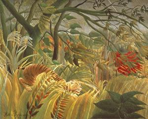 Tiger In A Tropical Storm by Henri Rousseau