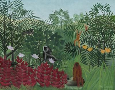 Tropical Forest with Monkeys, 1910