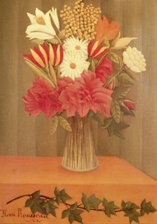 Vase of Flowers by Henri Rousseau