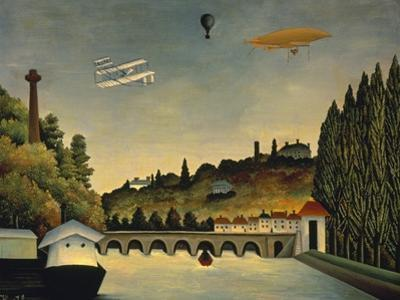 View of the Bridge at Sevres and the Hills at Clamart, St. Cloud and Bellevue, 1908 by Henri Rousseau