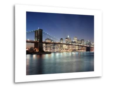 Brooklyn Bridge at Night 3 - New York City Skyline at Night, Color