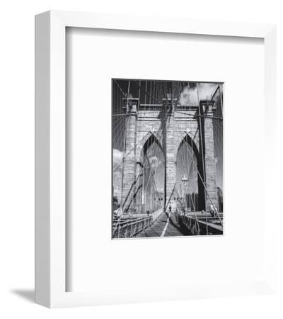 Brooklyn Bridge Walkway Man