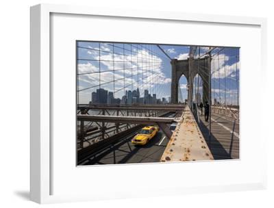 Brooklyn Bridge with Yellow Cab - New York City Icon