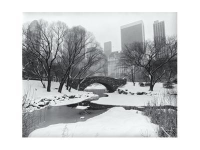 Central Park Bridge Snow 2 by Henri Silberman