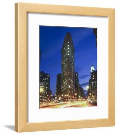 Flat Iron Building at Night 2 - New York City Landmark Street View