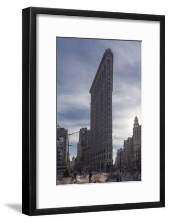 Flat Iron Building, New York (Landmark Architecture, Sunset)