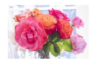 Garden Roses in Vase by Henri Silberman