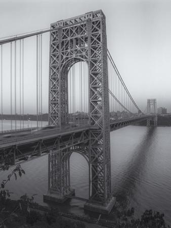 George Washington Bridge Dusk by Henri Silberman
